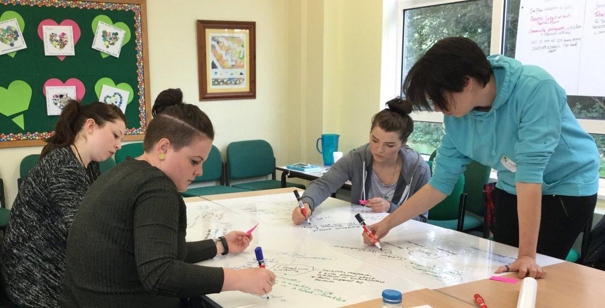 Trainees brainstorming