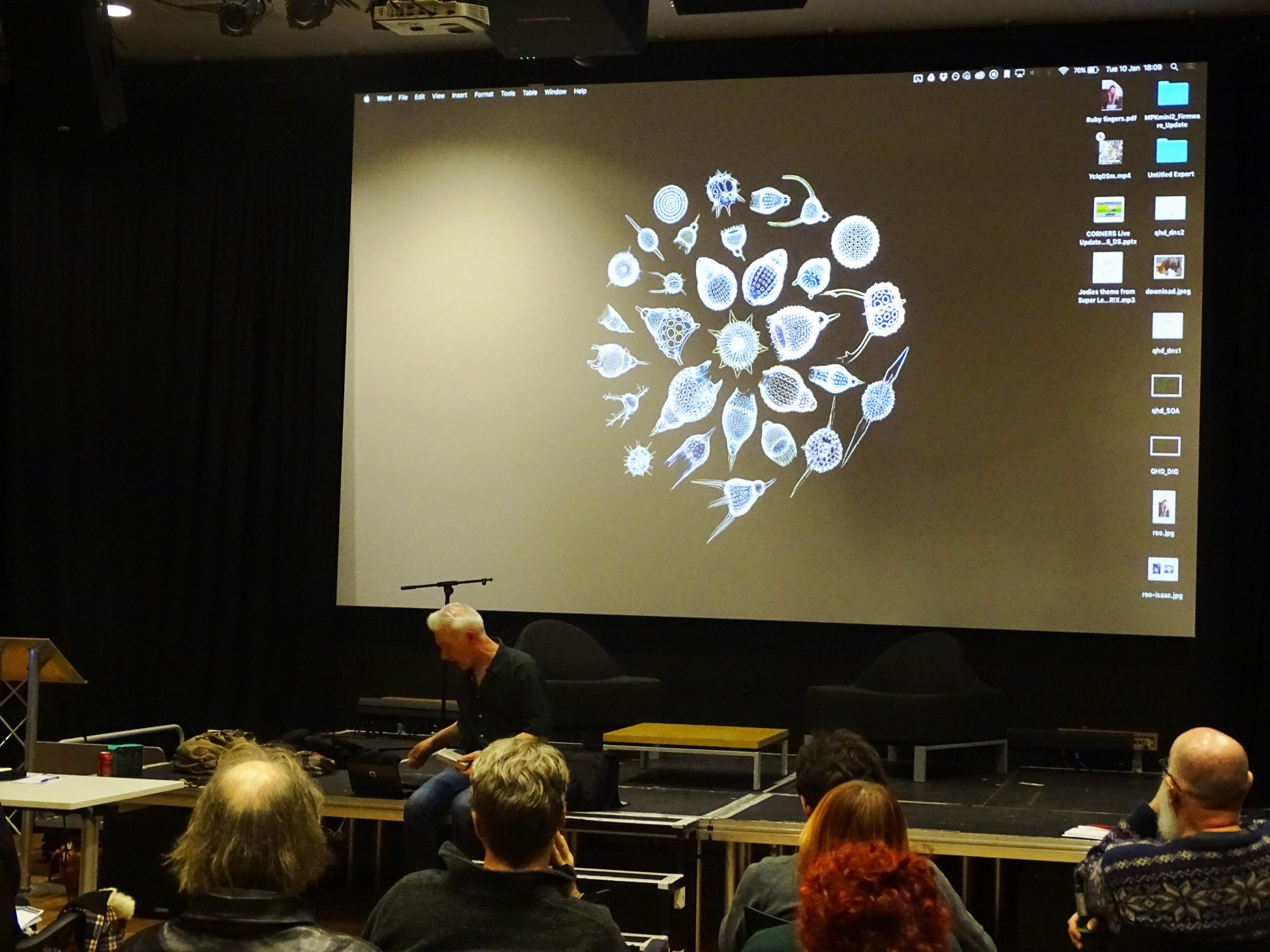Image of artists presentation